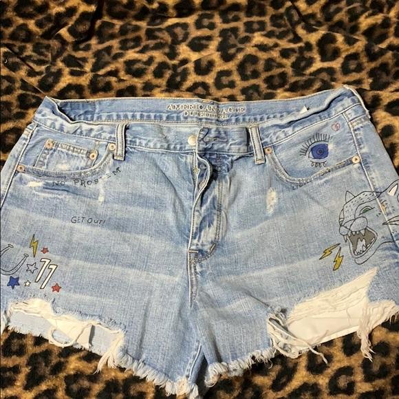 American Eagle Outfitters Pants - American Eagle Vintage Hi-Rise shortie shorts